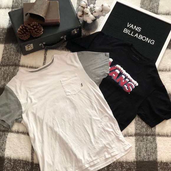 bbb4adc161 Vans and Billabong Men s T-Shirt Bundle! M 5b0b672061ca1011ee46165a